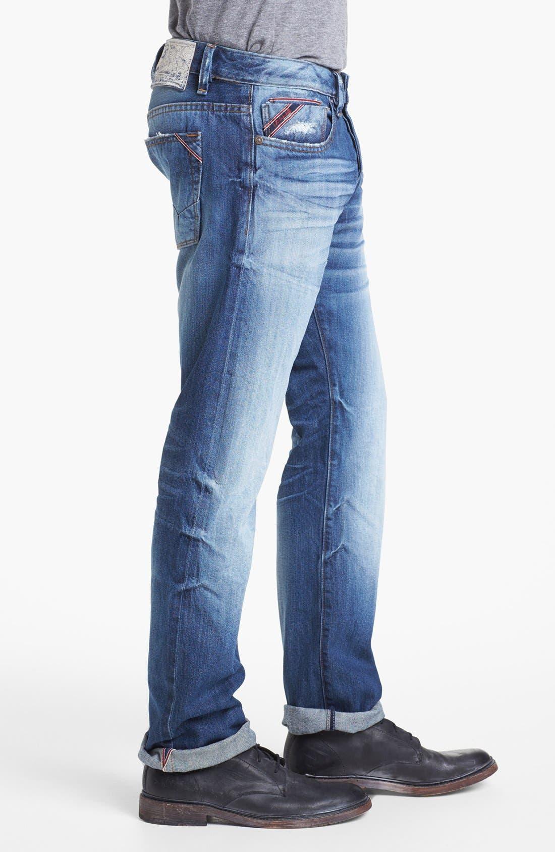 Alternate Image 3  - Cult of Individuality 'Rebel' Straight Leg Selvedge Jeans (Riverside)