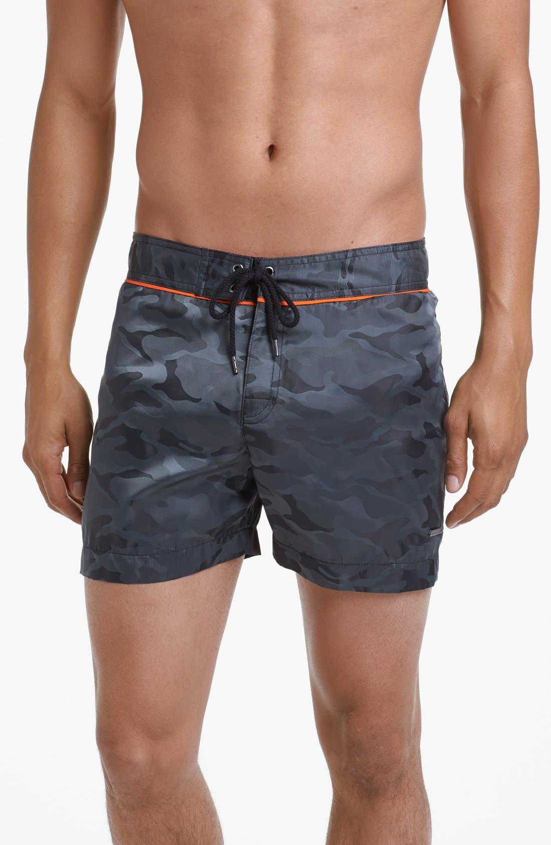 Main Image - Parke & Ronen Classic Camo Print Swim Shorts