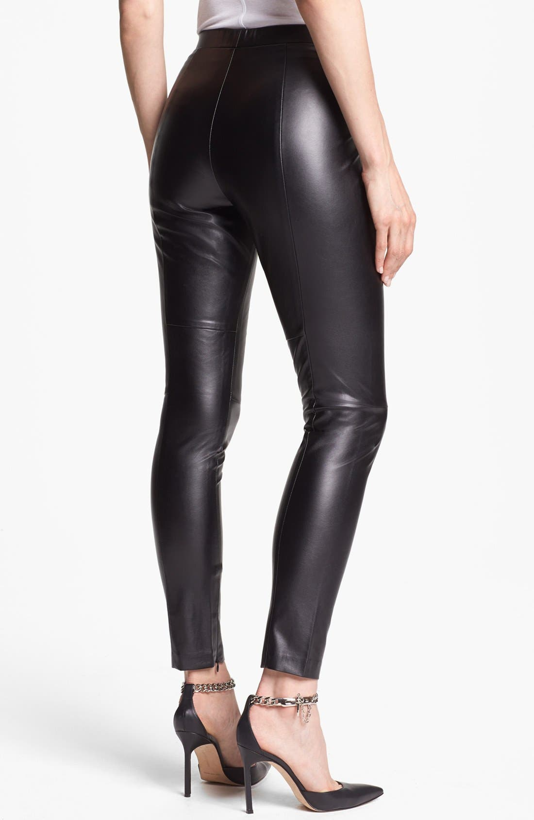 Alternate Image 2  - Vince Camuto Faux Leather Seamed Leggings