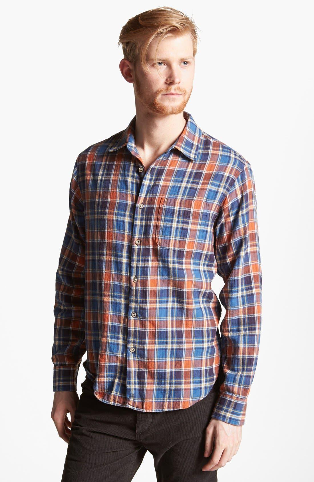 Alternate Image 1 Selected - rag & bone 'Beach' Herringbone Plaid Woven Shirt