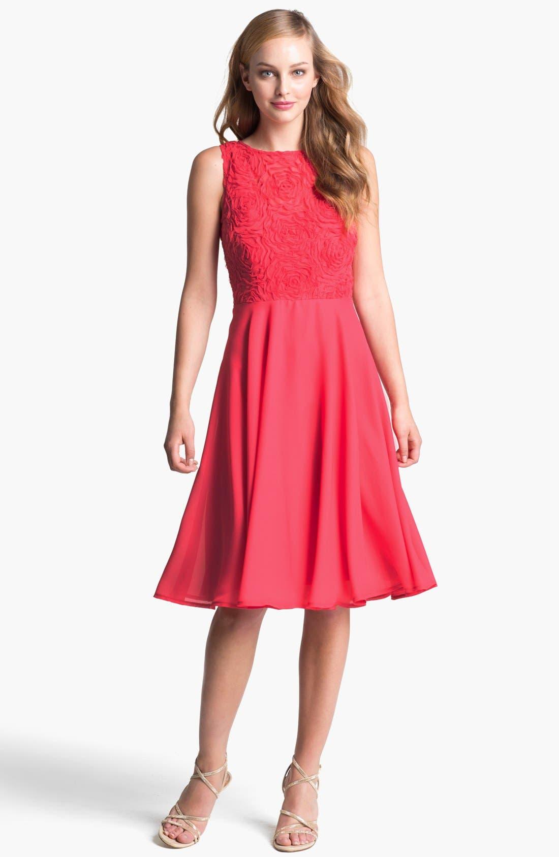 Main Image - Isaac Mizrahi New York Soutache Fit & Flare Dress