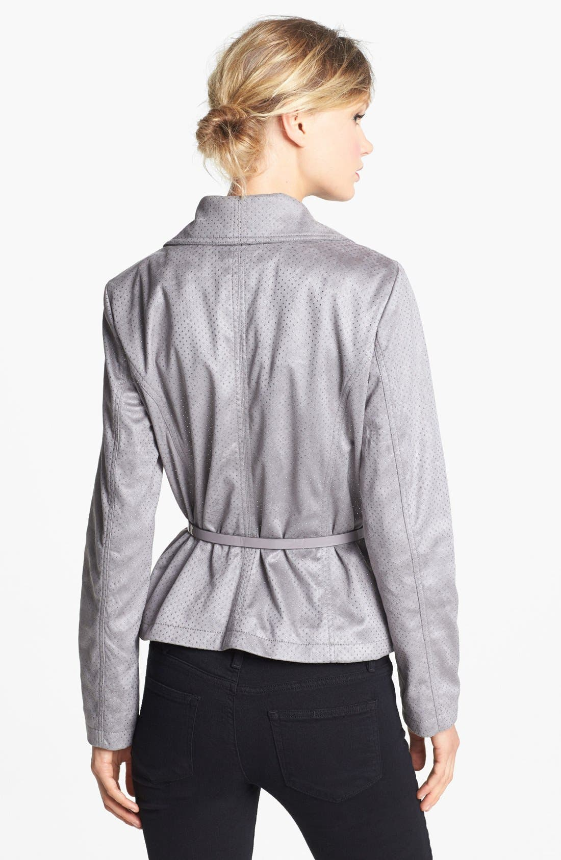 Alternate Image 3  - Kenneth Cole New York Studded Asymmetrical Faux Leather Jacket (Online Only)