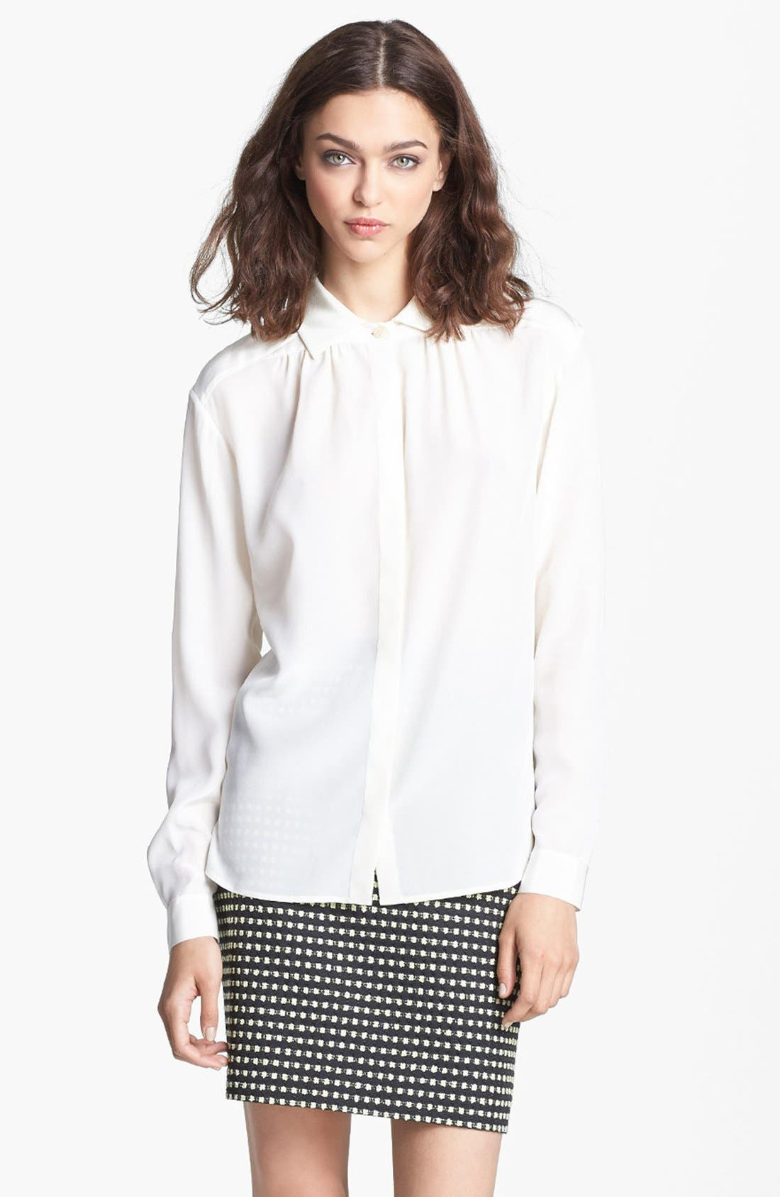 Alternate Image 3  - Miss Wu Crêpe de Chine Blouse (Nordstrom Exclusive)