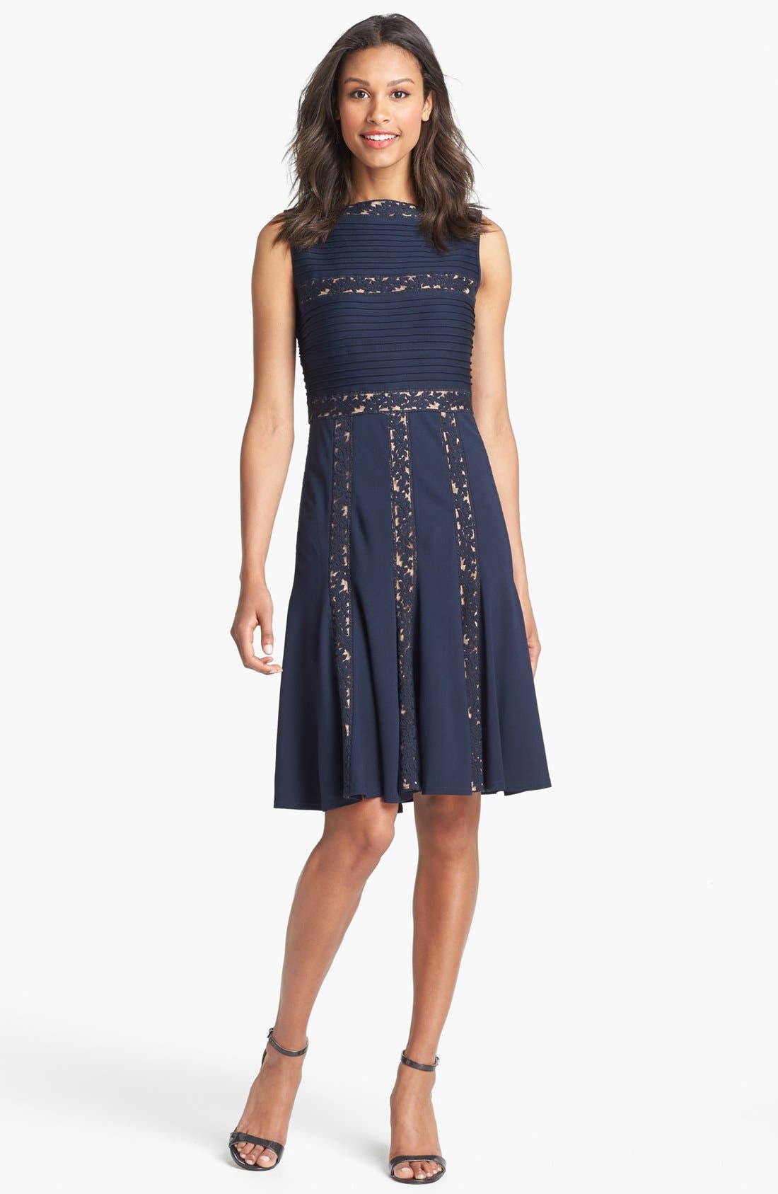 Alternate Image 3  - Tadashi Shoji Lace Inset Jersey Fit & Flare Dress (Regular & Petite)