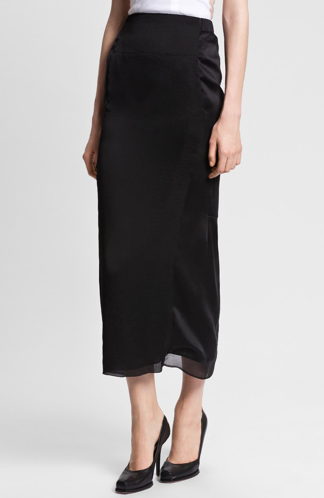 Main Image - Nina Ricci Long Satin Skirt