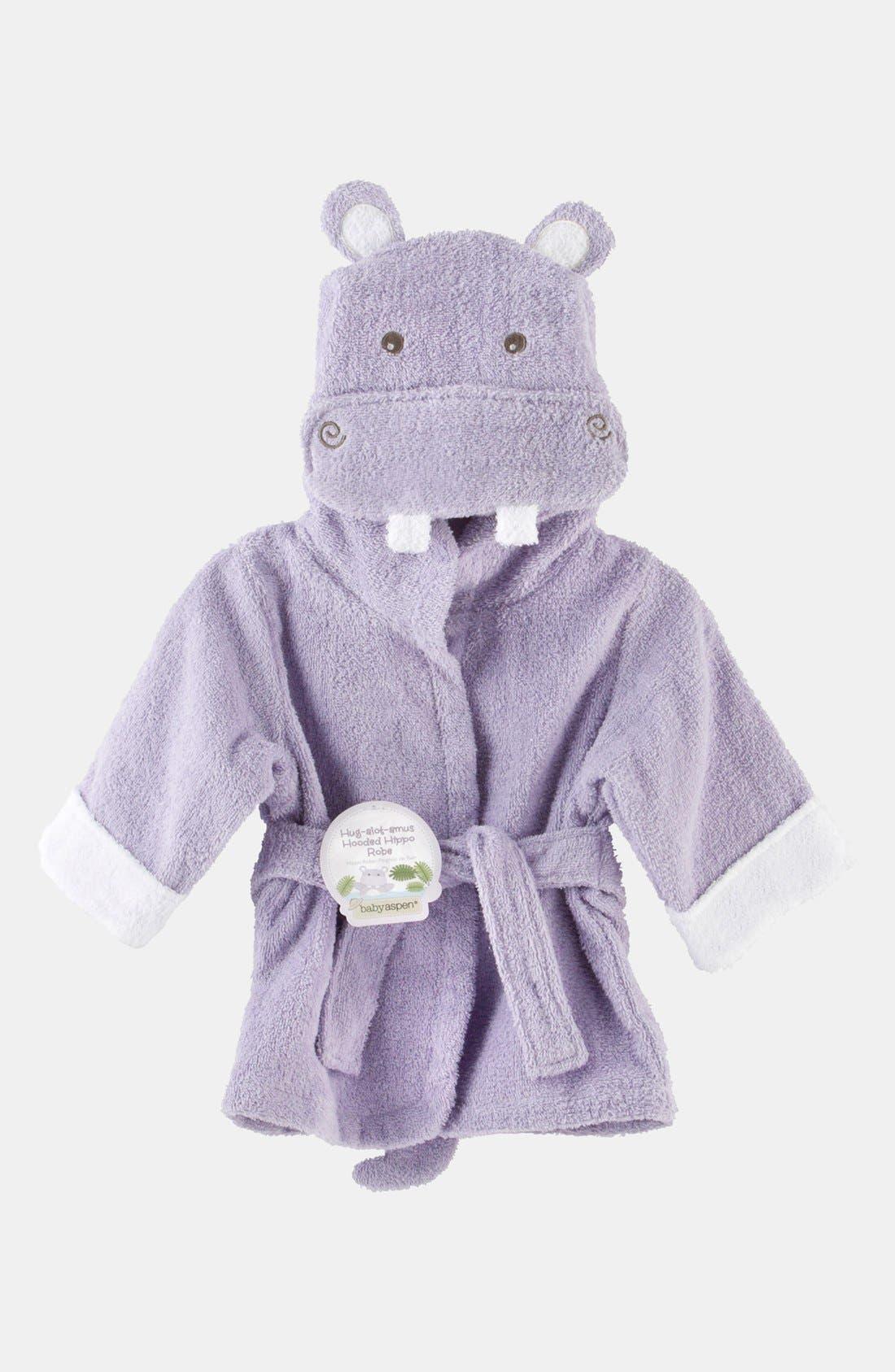 Main Image - Baby Aspen 'Hug a Lot Amus' Hooded Robe (Baby)
