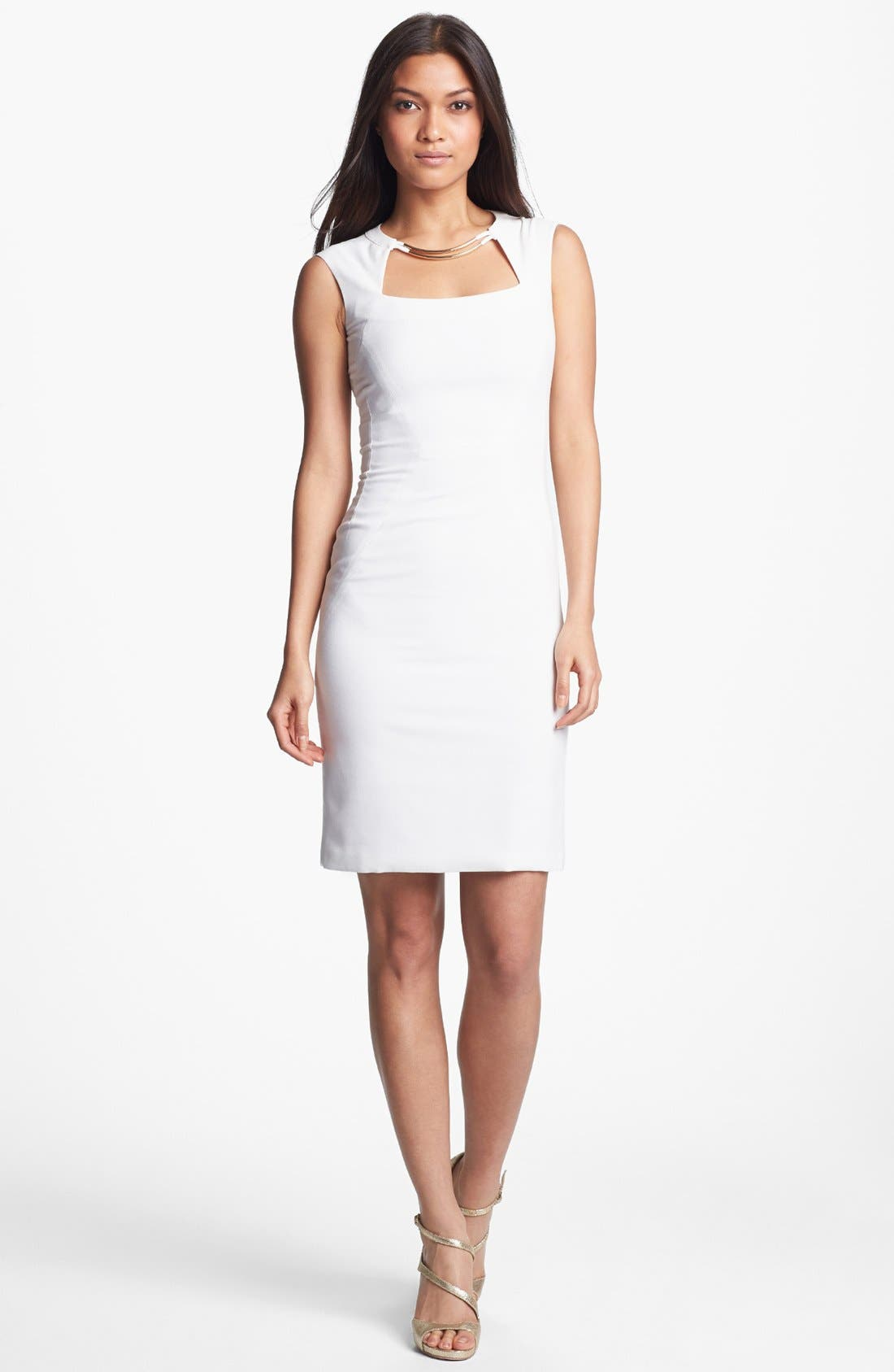 Main Image - BCBGMAXAZRIA Sleeveless Sheath Dress