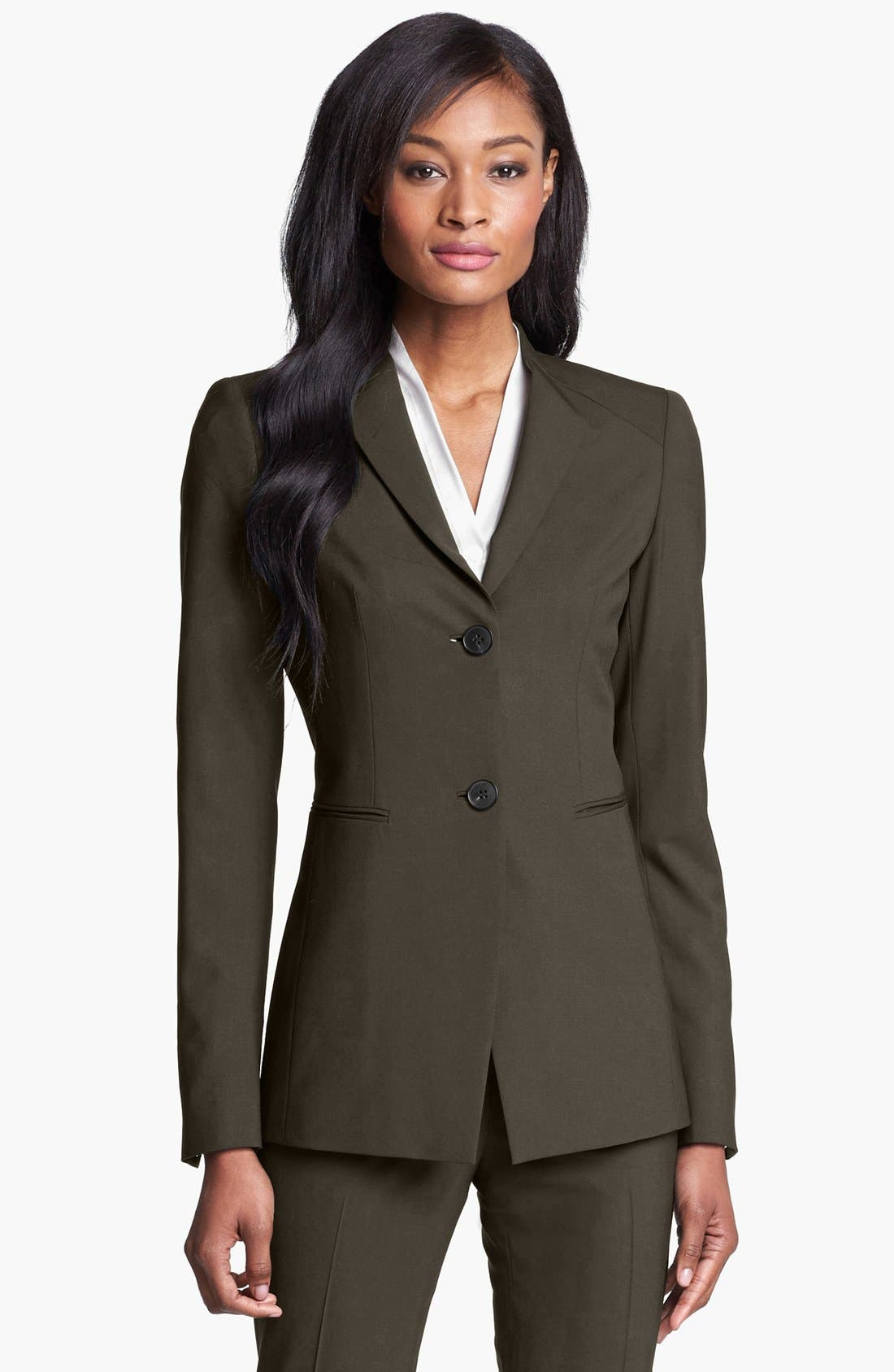 Alternate Image 1 Selected - Lafayette 148 New York 'Livia' Stretch Wool Jacket