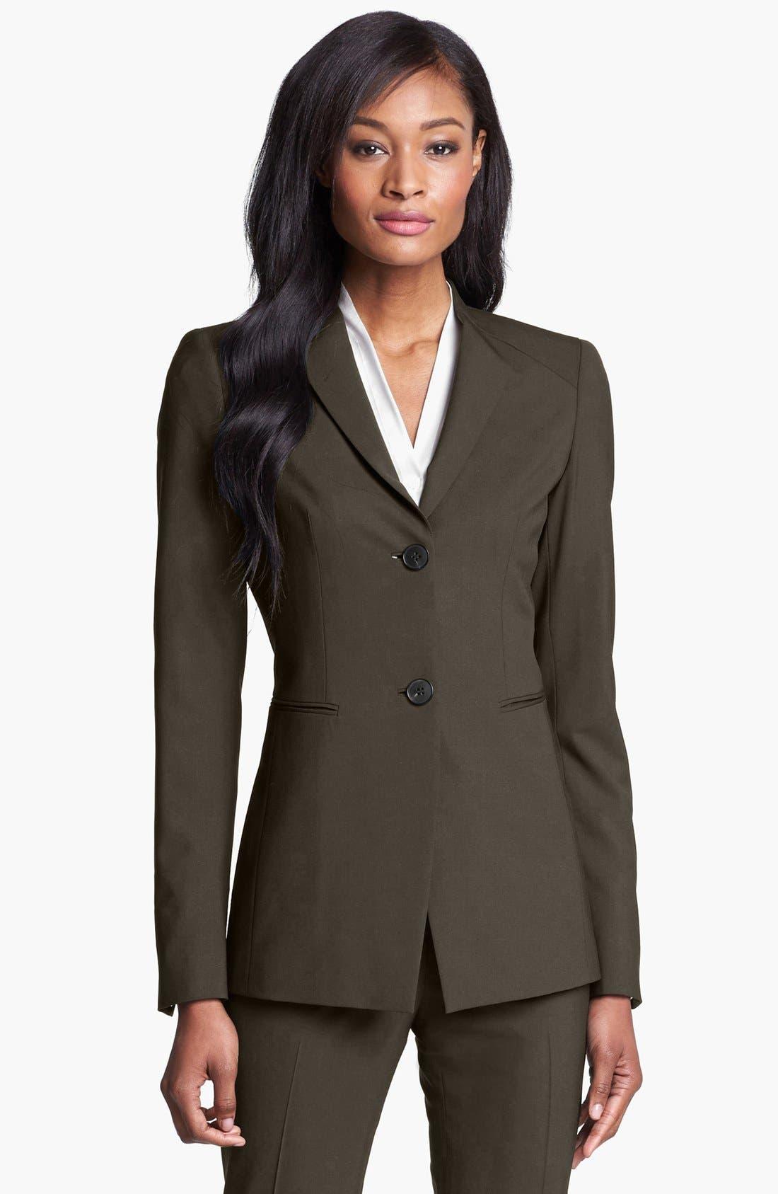 Main Image - Lafayette 148 New York 'Livia' Stretch Wool Jacket