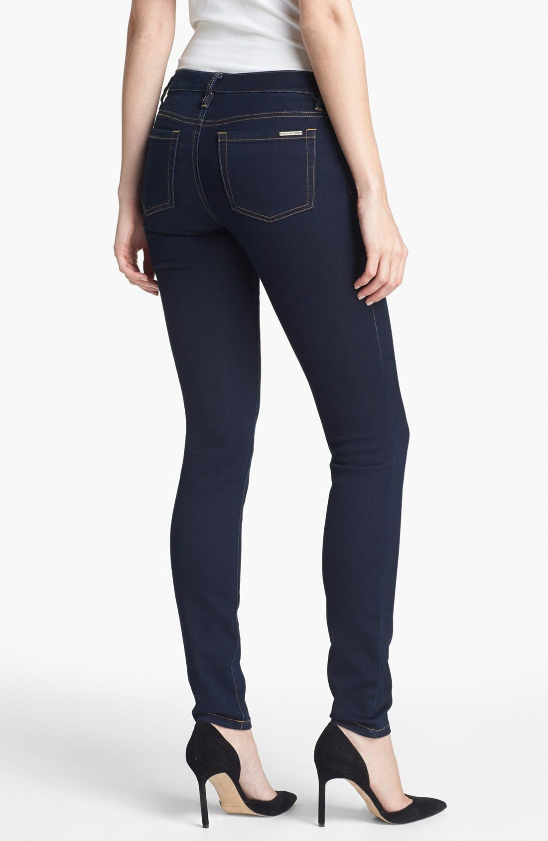 Alternate Image 2  - MICHAEL Michael Kors Stretch Skinny Jeans (Twilight)