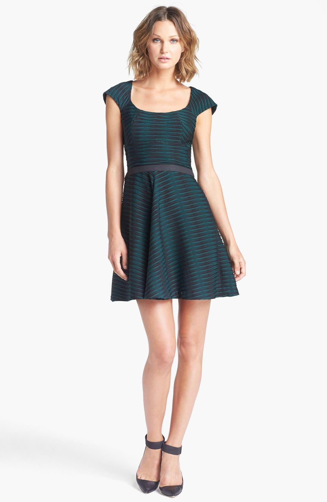 Alternate Image 1 Selected - Betsey Johnson Textured Fit & Flare Dress