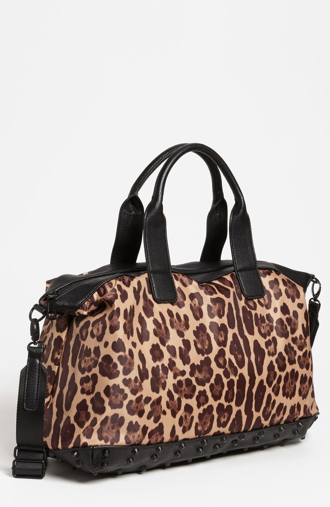 Alternate Image 1 Selected - Steven by Steve Madden Leopard Print Duffel Bag