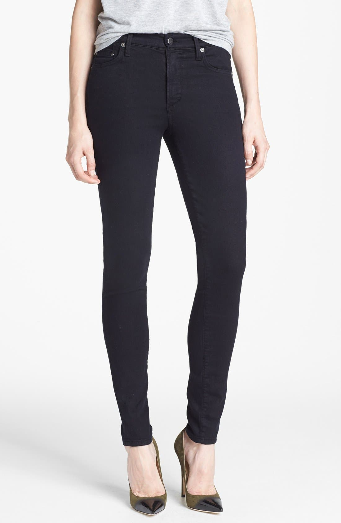 Alternate Image 1 Selected - Citizens of Humanity 'Rocket' Skinny Jeans (Black Diamond)