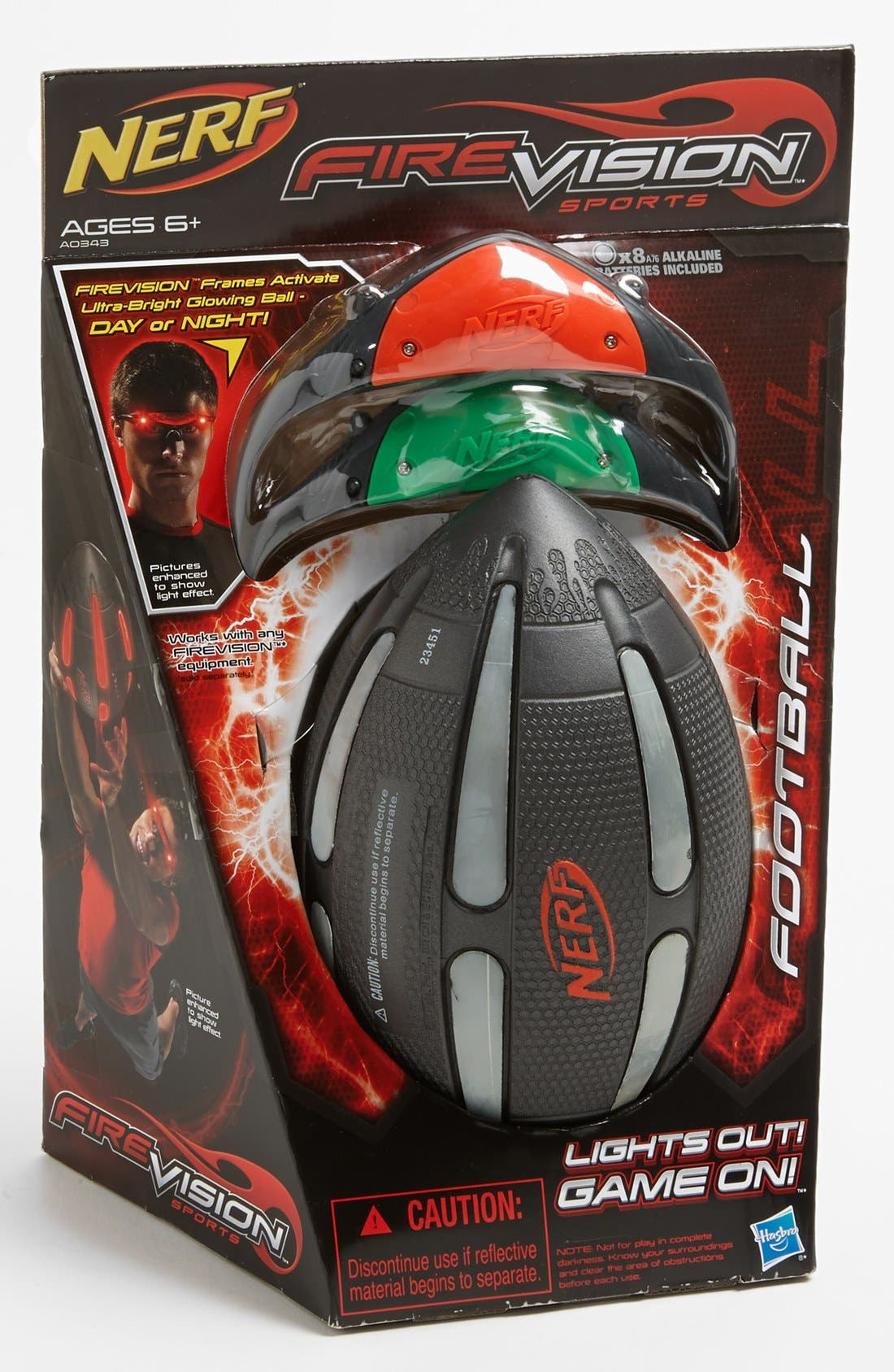 Alternate Image 1 Selected - Play Visions Toys 'FIREVISION™' Nerf® Football & Frames