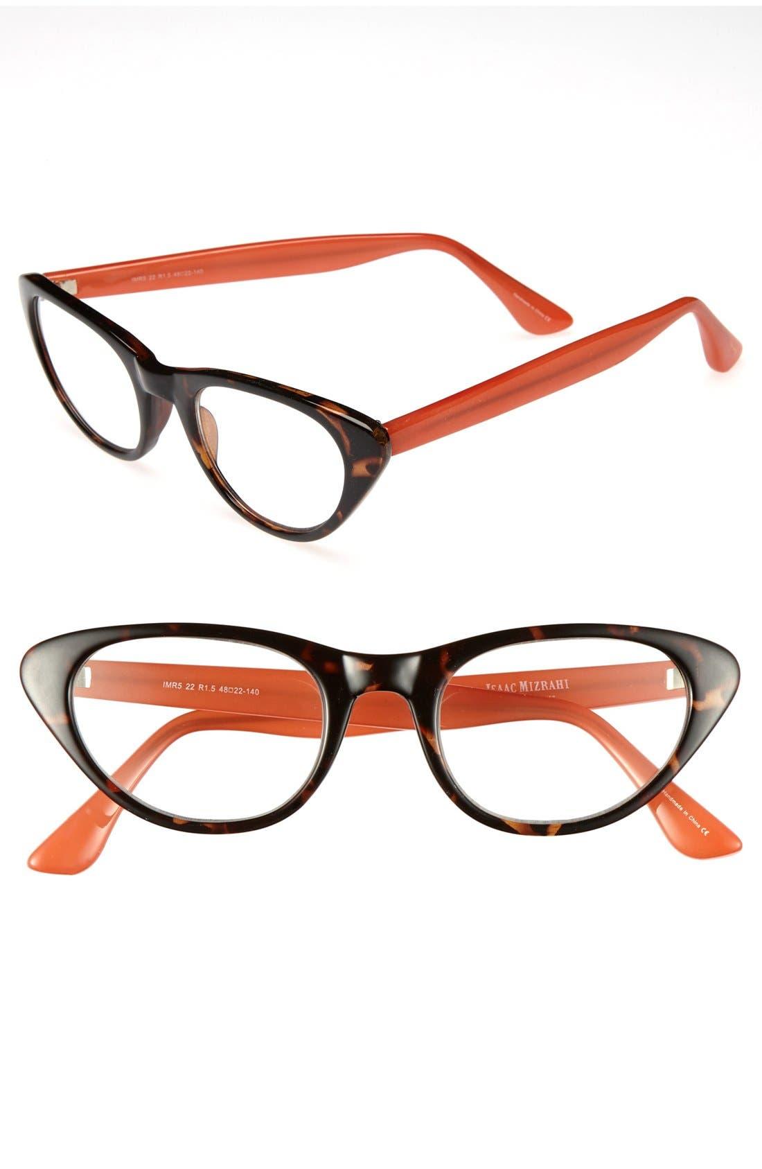 Main Image - Isaac Mizrahi New York 48mm Cat Eye Reading Glasses