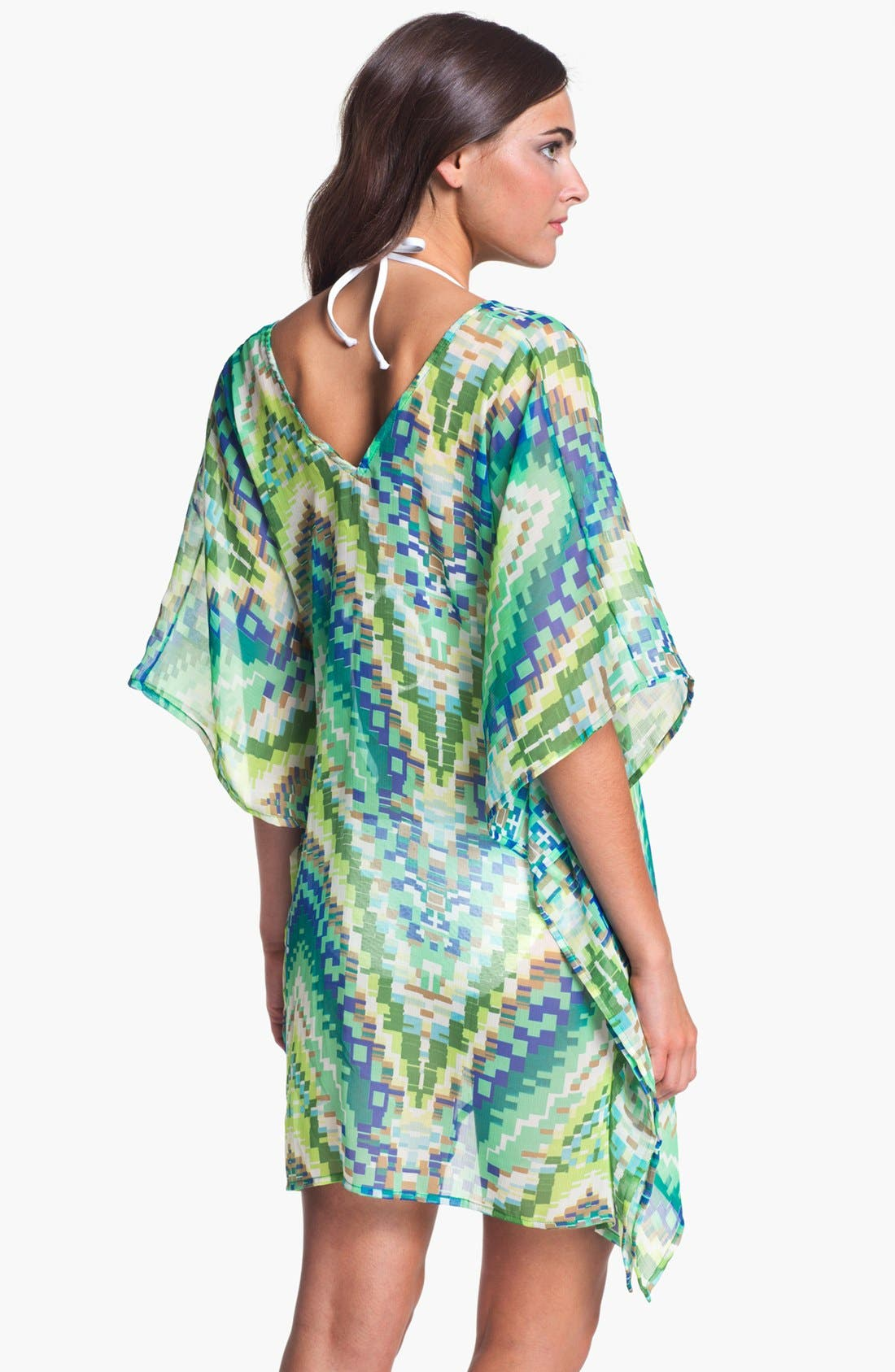 Alternate Image 2  - Echo Sheer Chevron Cover-Up