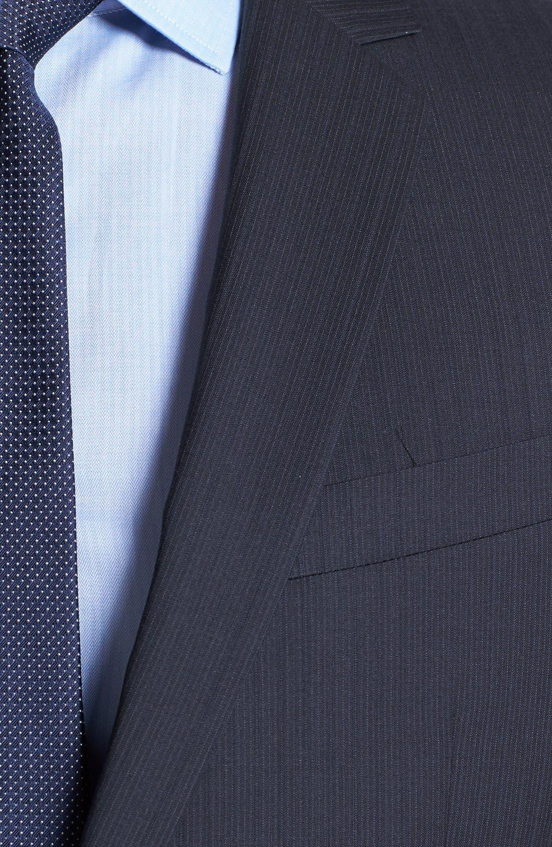 Alternate Image 2  - HUGO 'Amaro/Heise' Trim Fit Stripe Suit