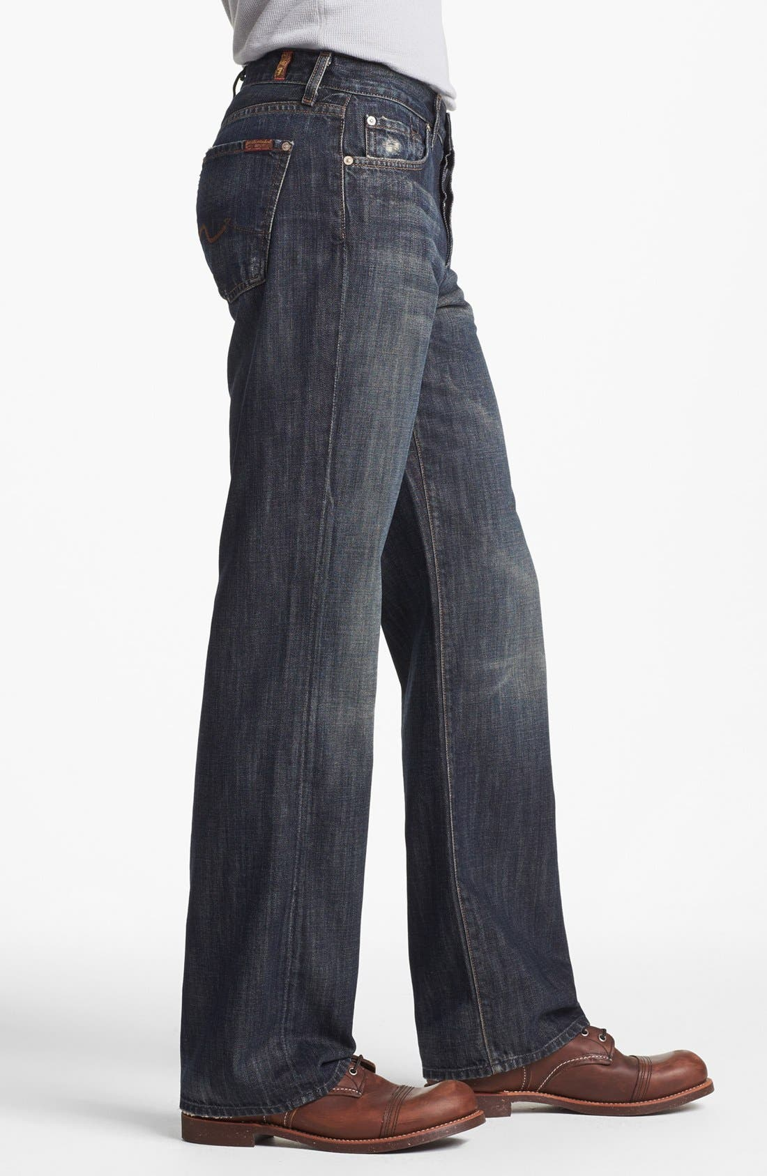 Alternate Image 3  - 7 For All Mankind® Relaxed Straight Leg Jeans (Montana)
