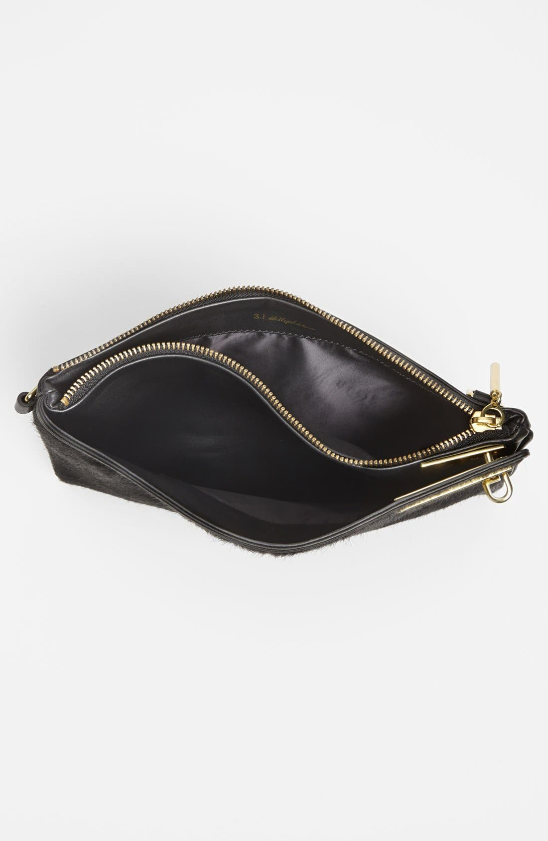 Alternate Image 3  - 3.1 Phillip Lim 'Racer' Calf Hair & Leather Clutch