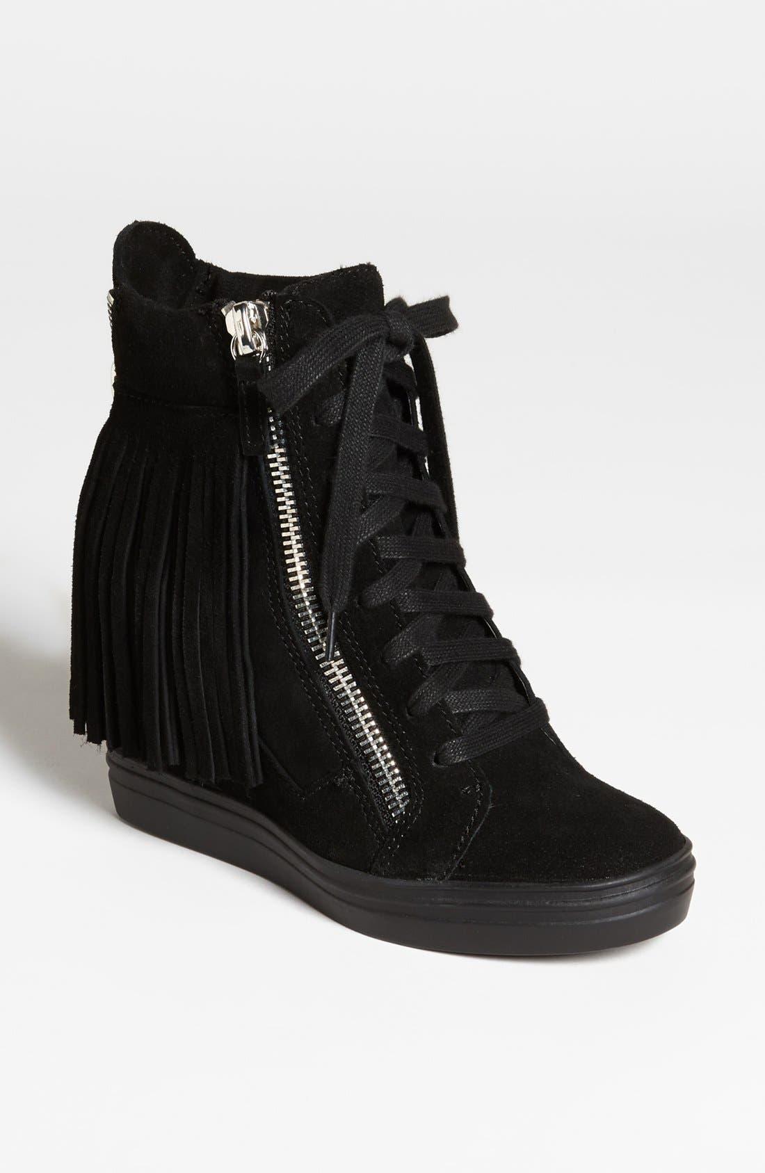 'Georga-F' Wedge Sneaker,                         Main,                         color, Black Suede
