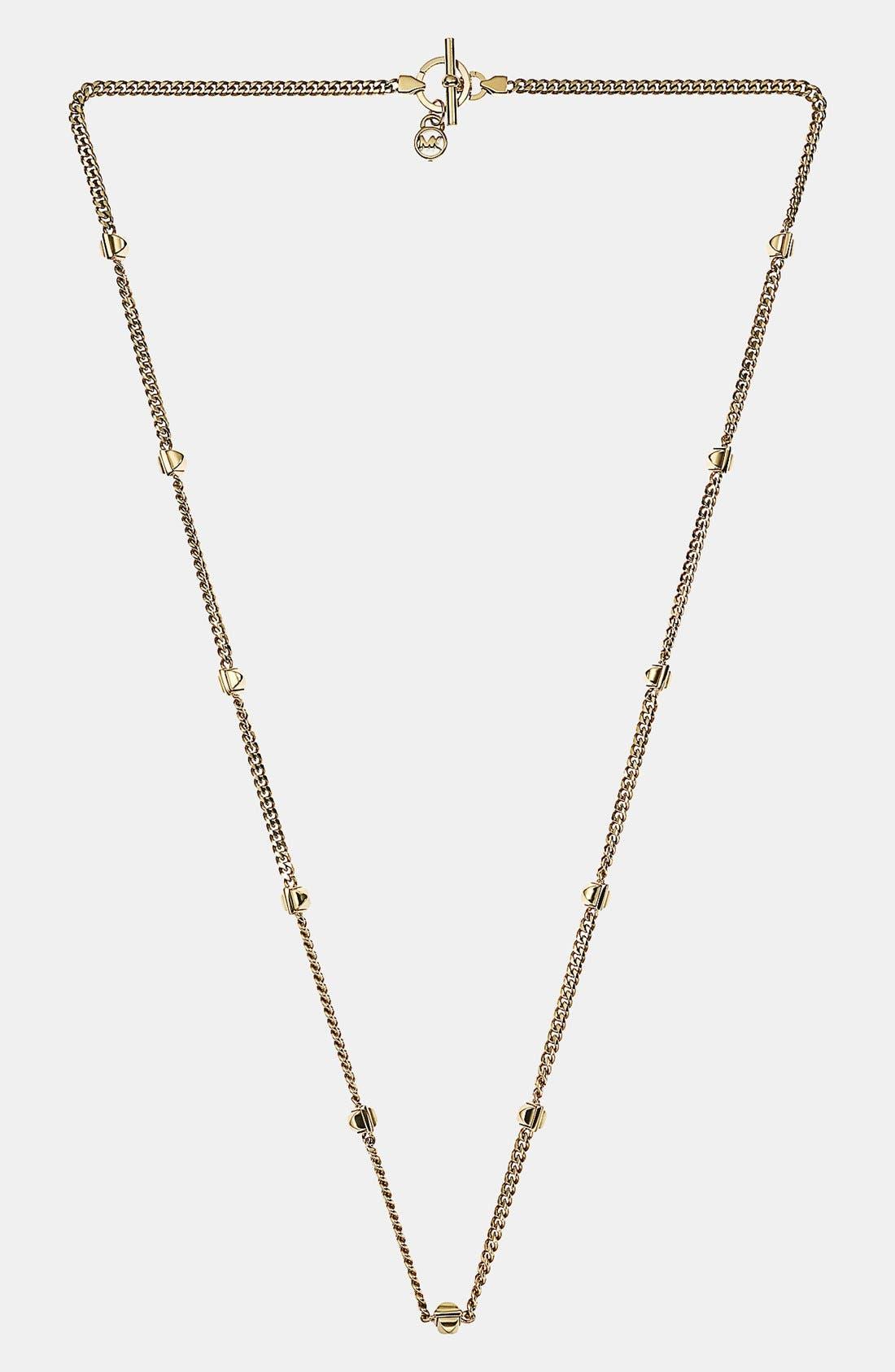 Alternate Image 1 Selected - Michael Kors 'Glam Rock' Long Station Necklace