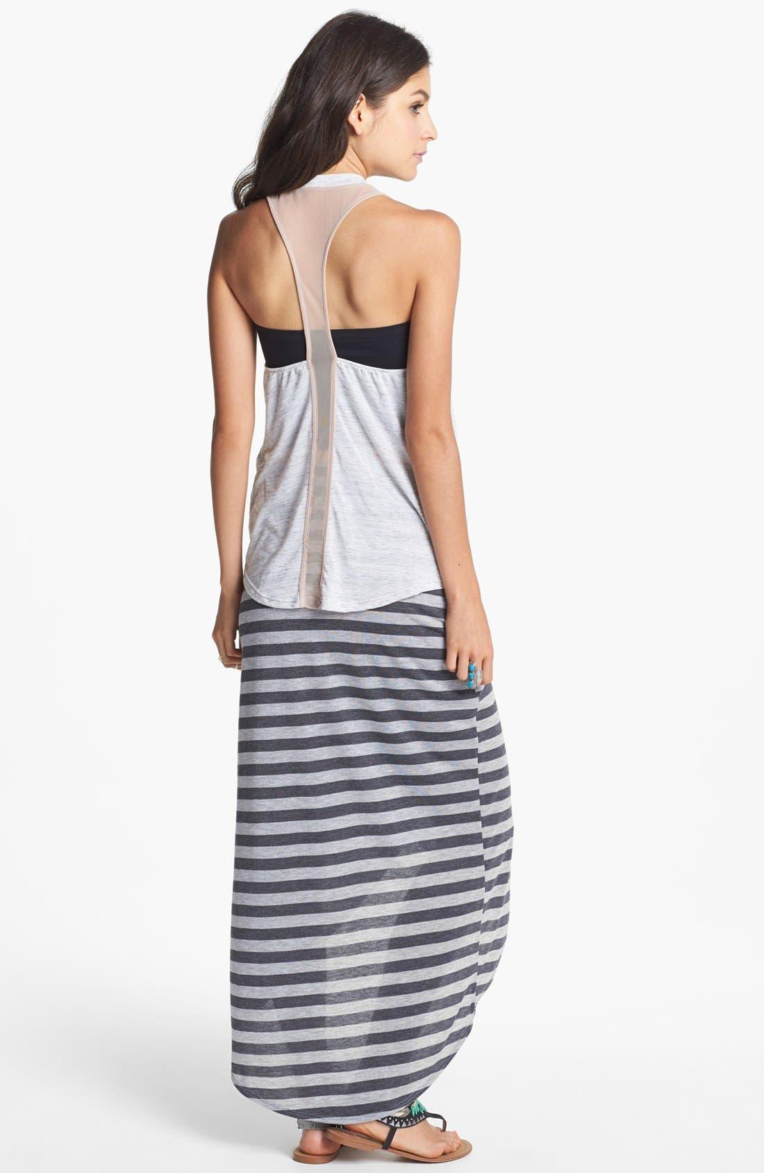 Alternate Image 2  - h.i.p. High/Low Stripe Wrap Skirt (Juniors)