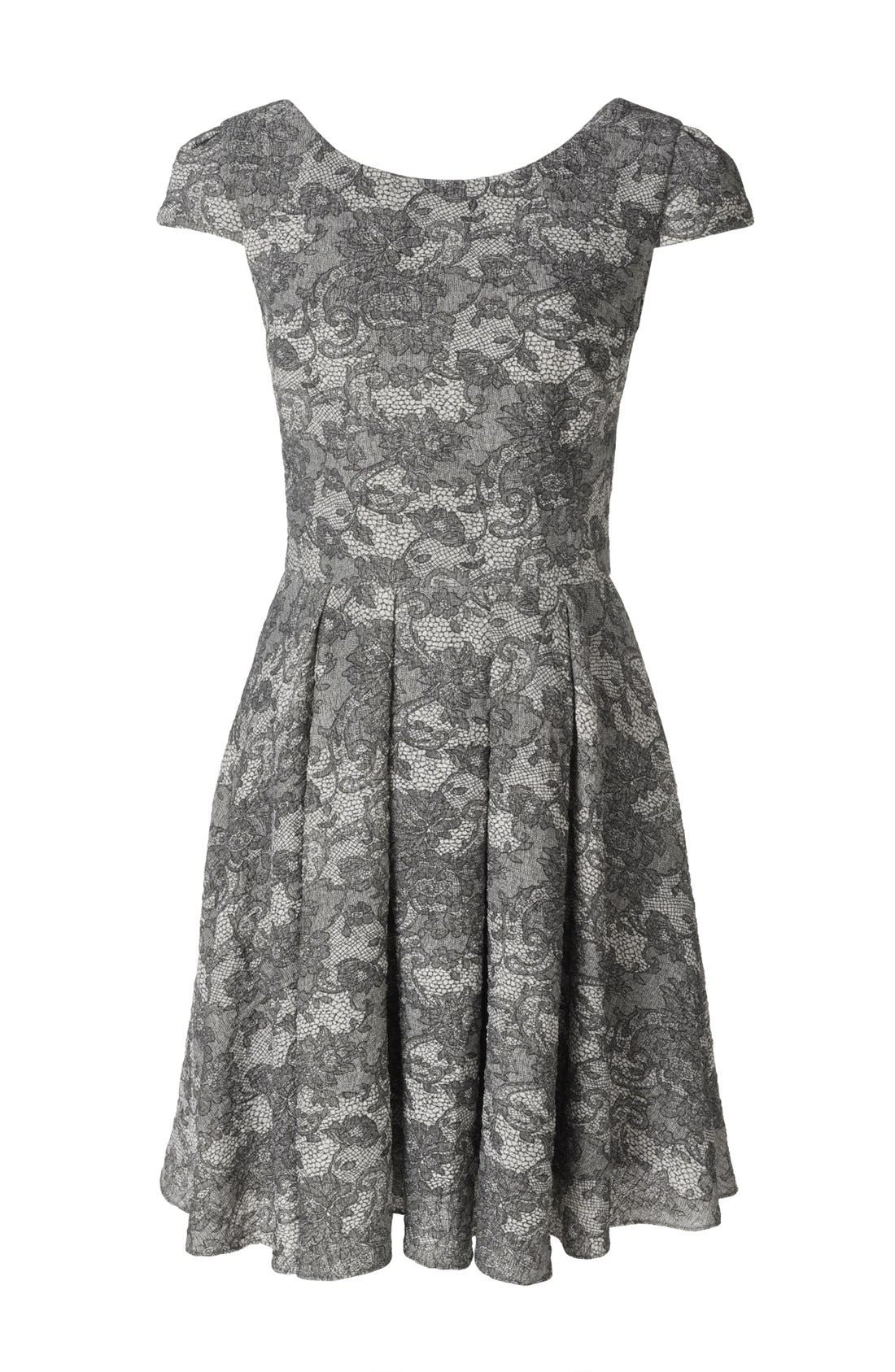 Alternate Image 4  - Betsey Johnson Lace Print Fit & Flare Dress