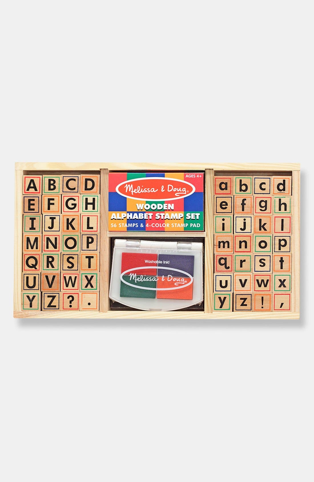 Alphabet Stamp Set,                             Main thumbnail 1, color,                             Tan Multi