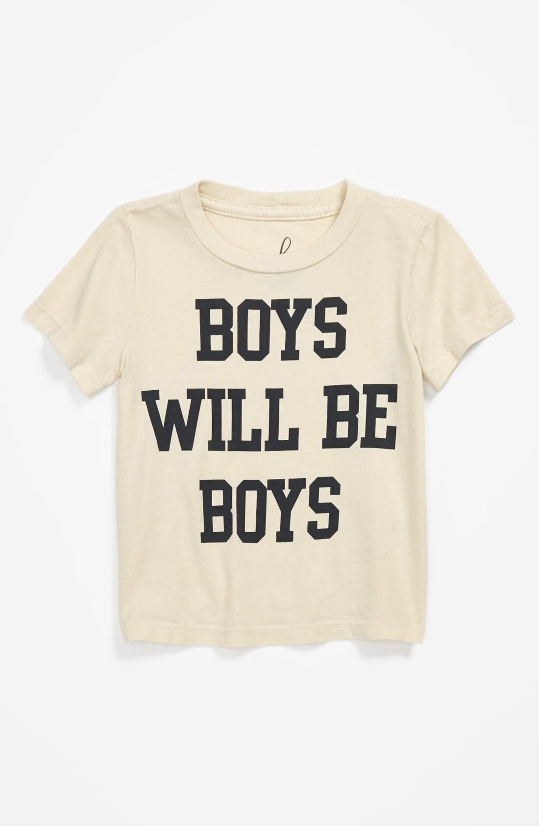 Alternate Image 1 Selected - Peek 'Boys Will Be Boys' T-Shirt (Baby Boys)