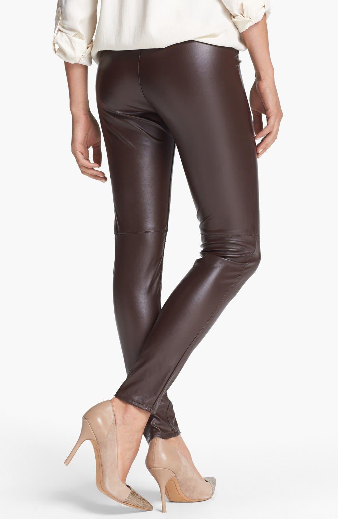 Alternate Image 2  - MICHAEL Michael Kors Faux Leather Leggings