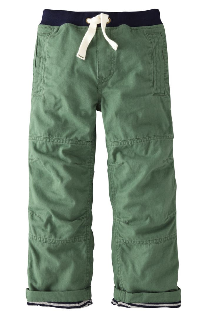 Mini Boden Lined Knee Patch Cargo Pants Toddler Boys