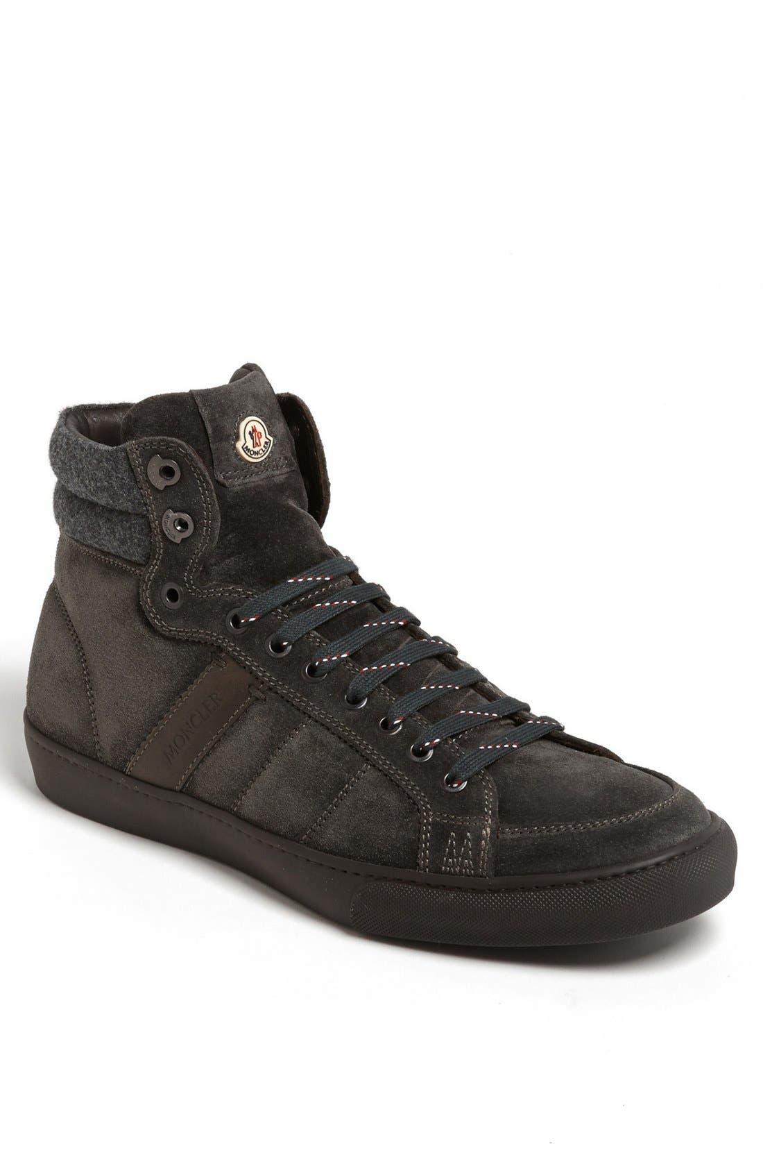 Alternate Image 1 Selected - Moncler 'Lyon' Suede Sneaker