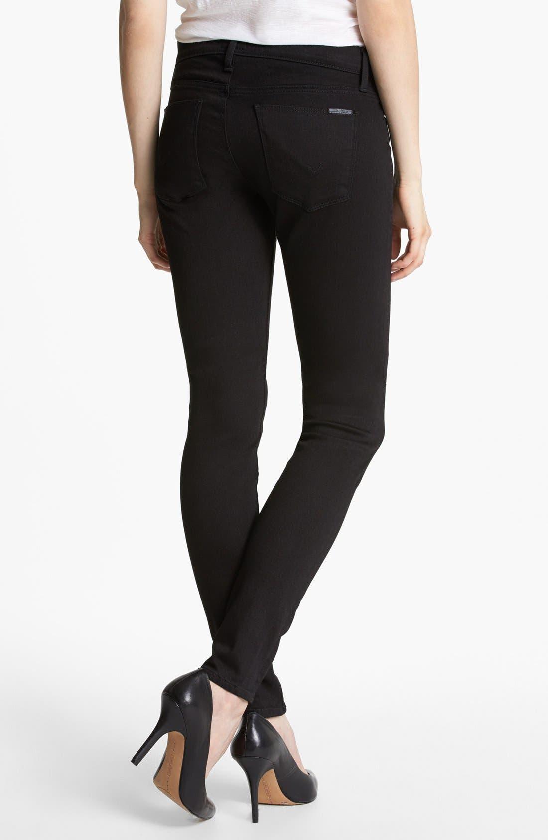 Alternate Image 2  - Hudson Jeans 'Krista Supermodel' Skinny Jeans (Black)