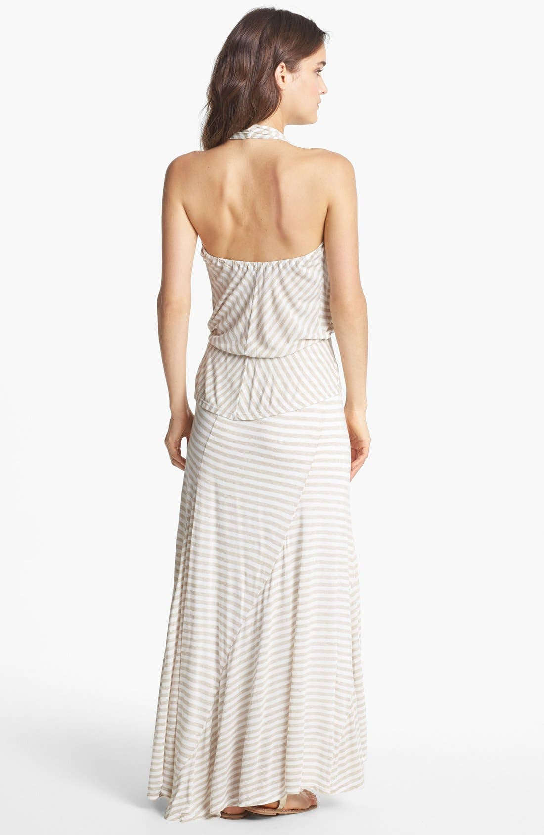 Alternate Image 2  - Ella Moss Stripe High/Low Maxi Dress