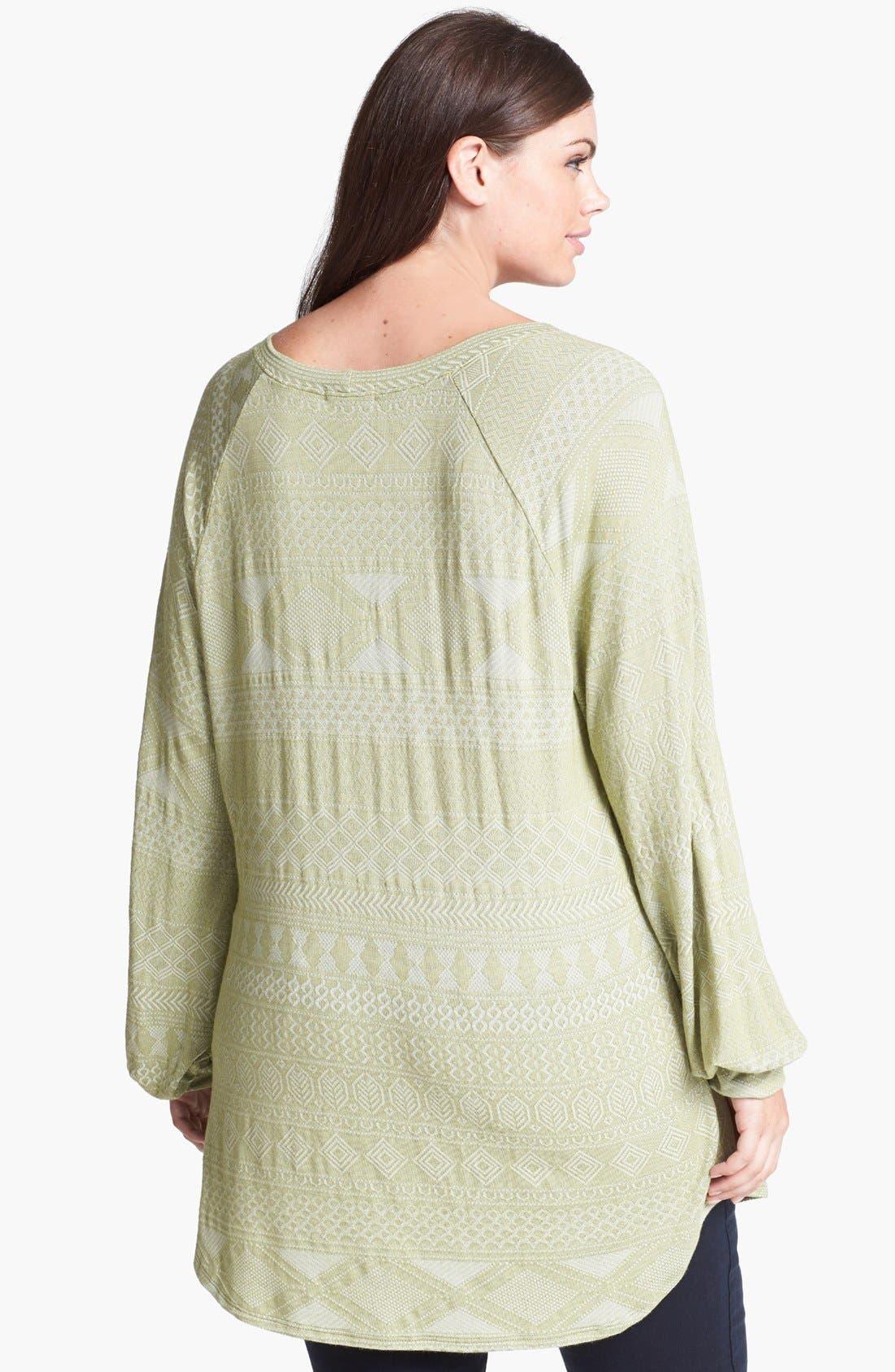 Alternate Image 2  - LAmade Raglan Sleeve Top (Plus Size)