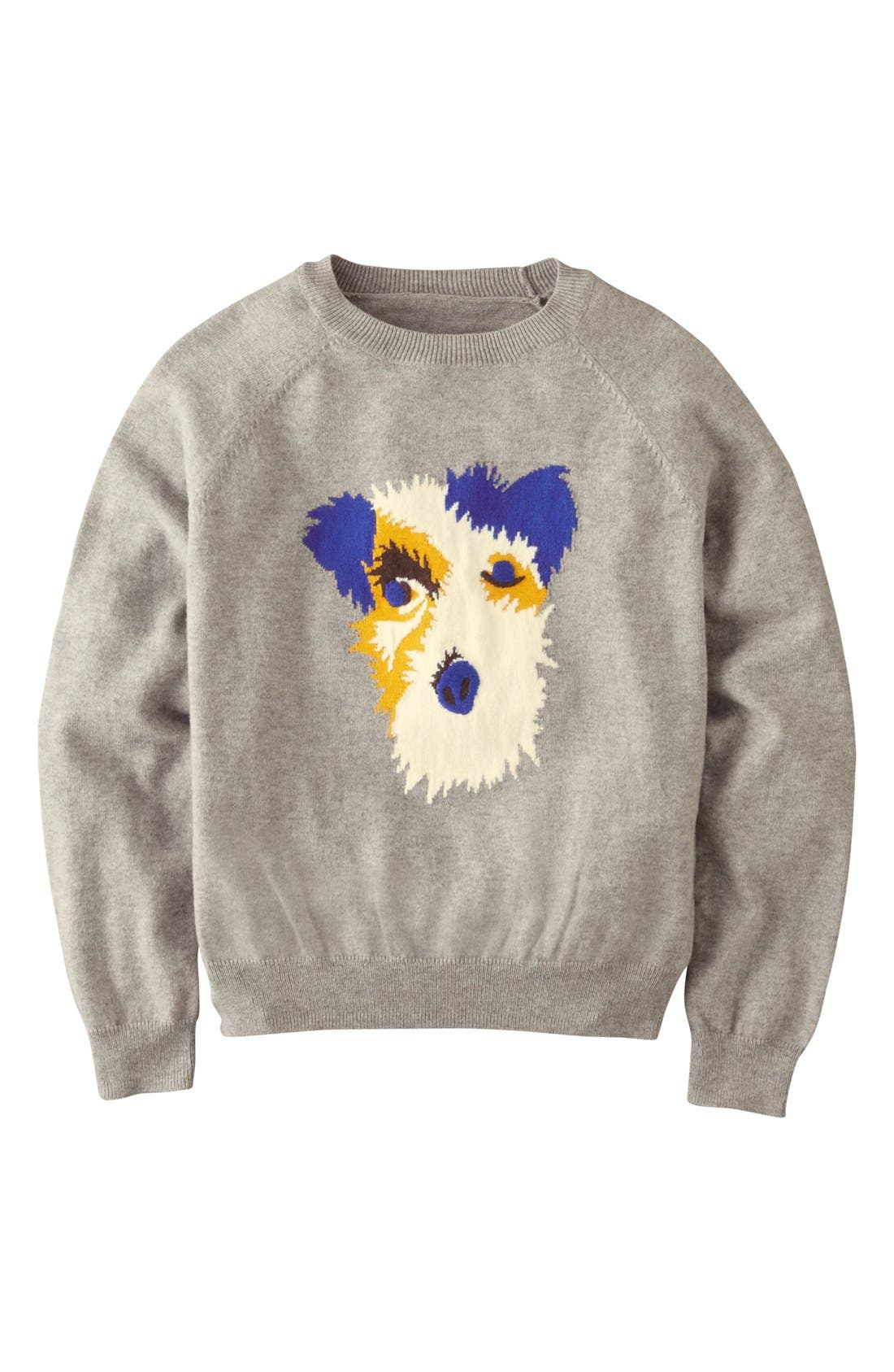 Alternate Image 1 Selected - Mini Boden Graphic Sweater (Toddler Boys)