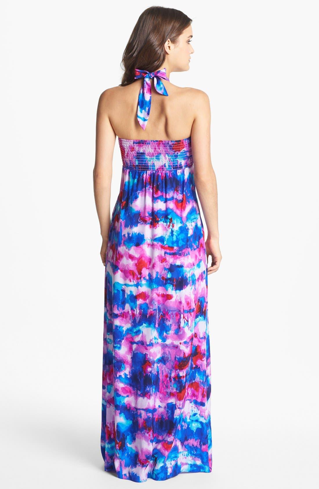 Alternate Image 2  - ALICE & TRIXIE 'Keira' Tie Detail Print Maxi Dress