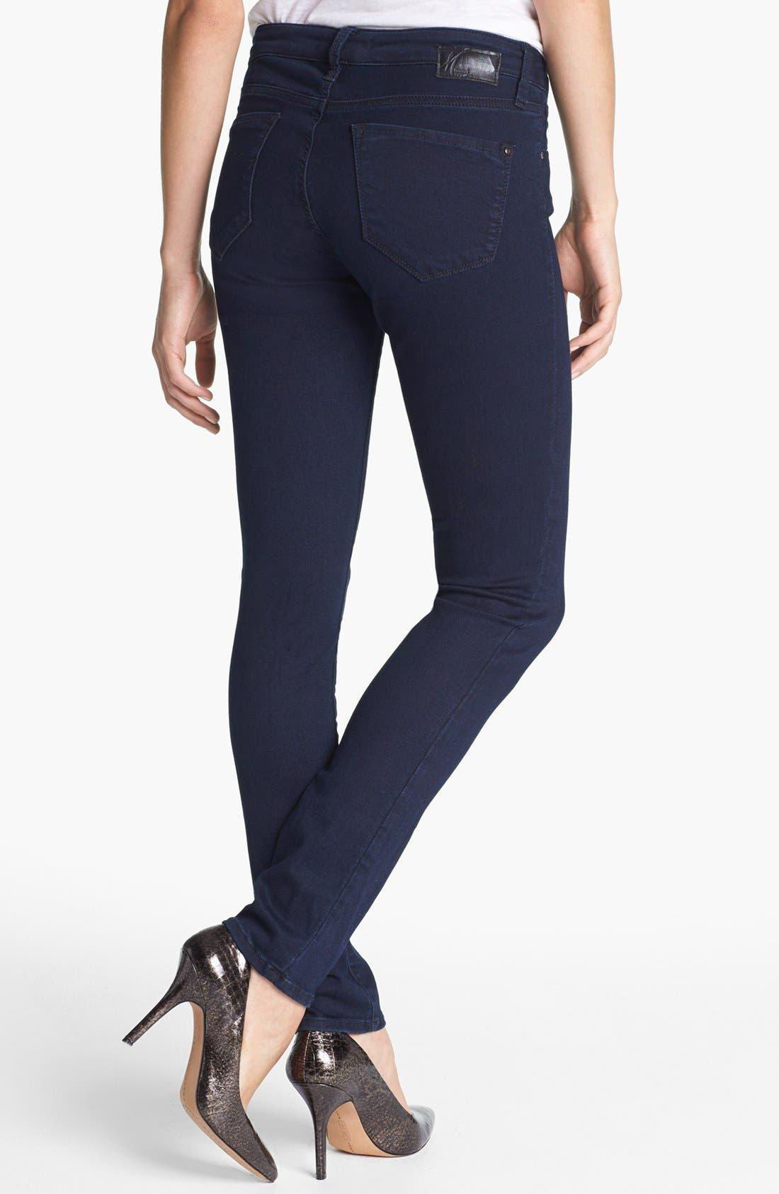 'Alexa' Midrise Skinny Jeans,                             Alternate thumbnail 2, color,                             Dark Shanty