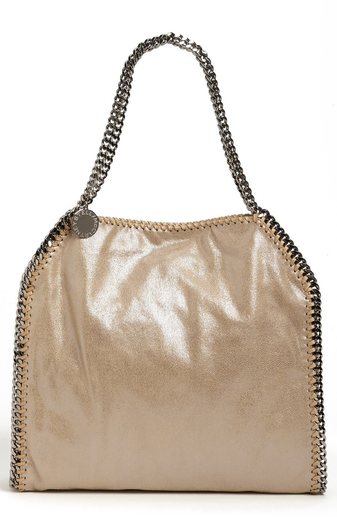 'Small Falabella' Faux Leather Tote,                             Main thumbnail 1, color,                             Redwood