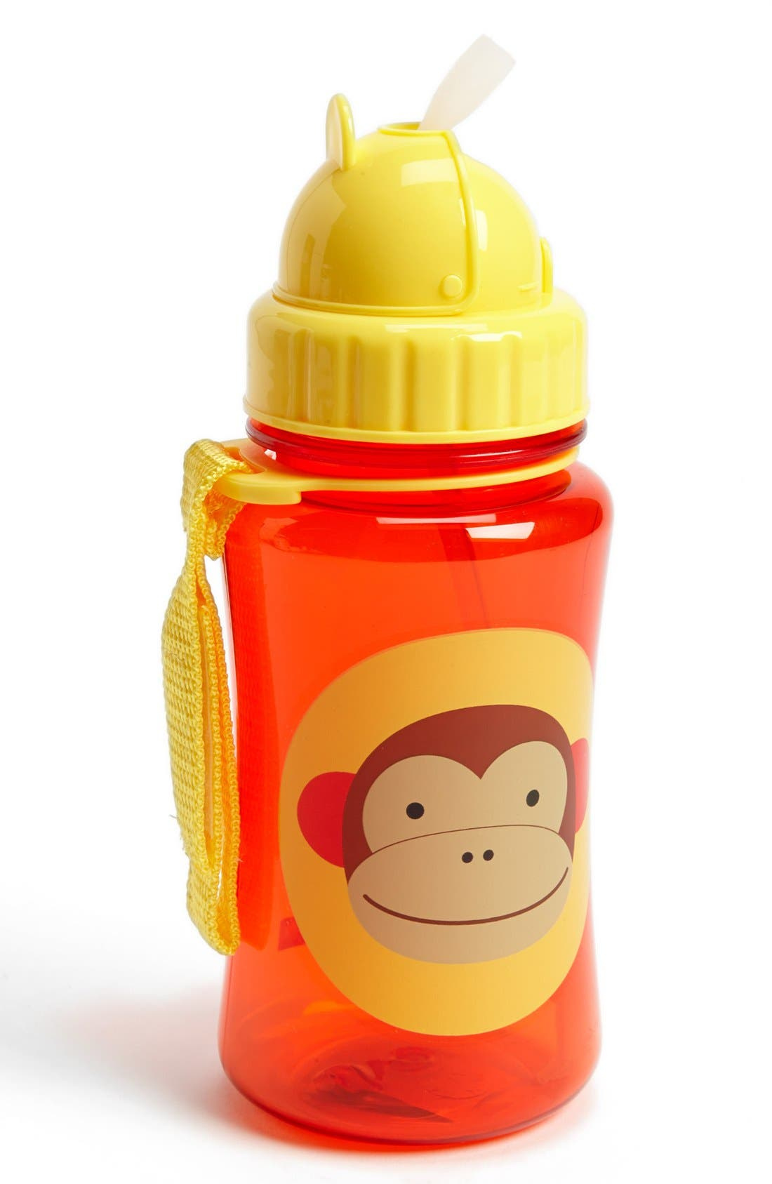 'Zoo' Bottle with Straw,                         Main,                         color, Red