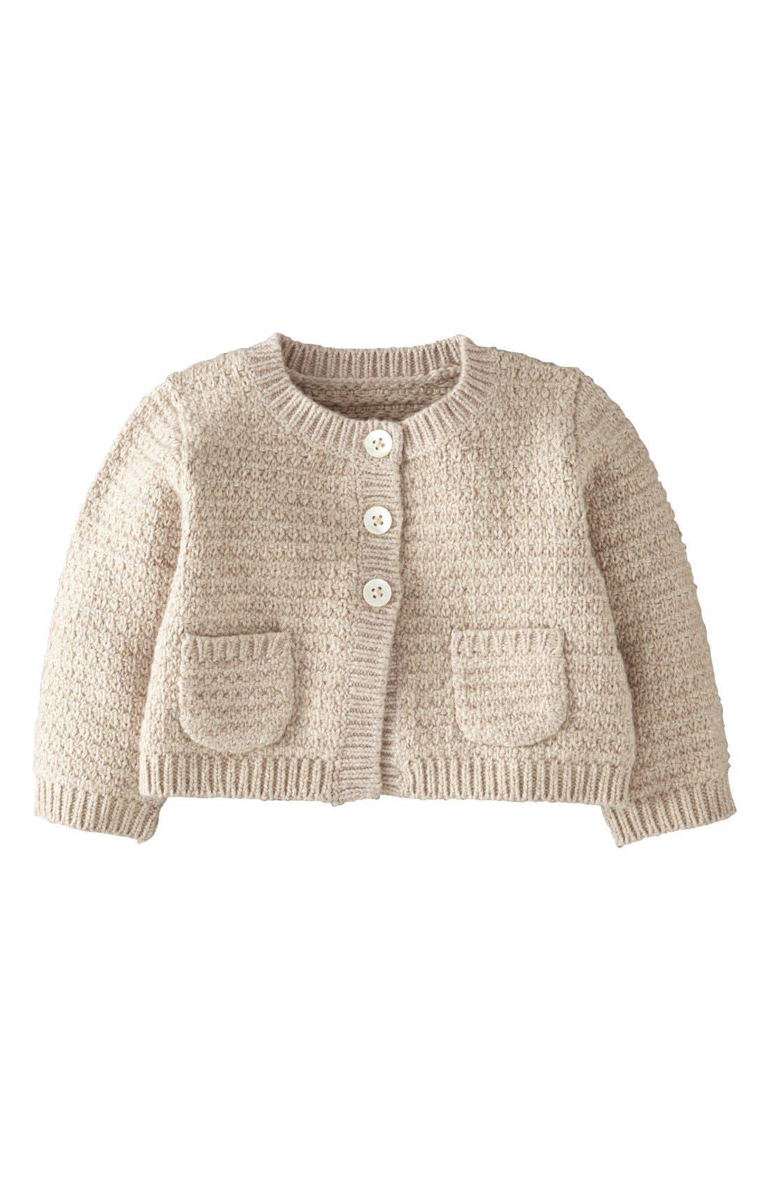 Alternate Image 1 Selected - Mini Boden Cardigan (Baby Girls)