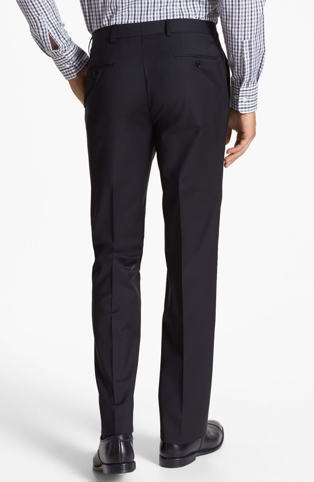 Alternate Image 3  - John Varvatos Star USA 'Astor' Flat Front Wool Trousers