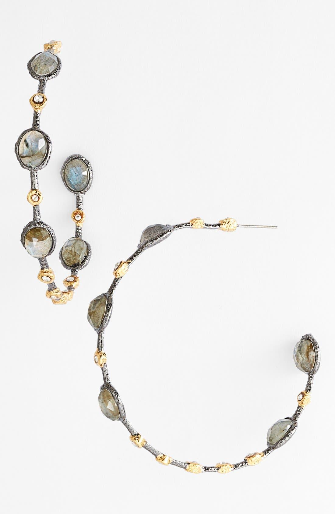 Alternate Image 1 Selected - Alexis Bittar 'Elements - Jardin de Papillon' Station Hoop Earrings