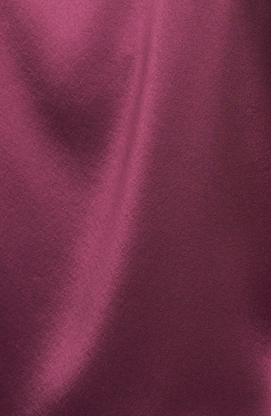 Alternate Image 3  - St. John Collection Pleated Neck Liquid Satin Shell