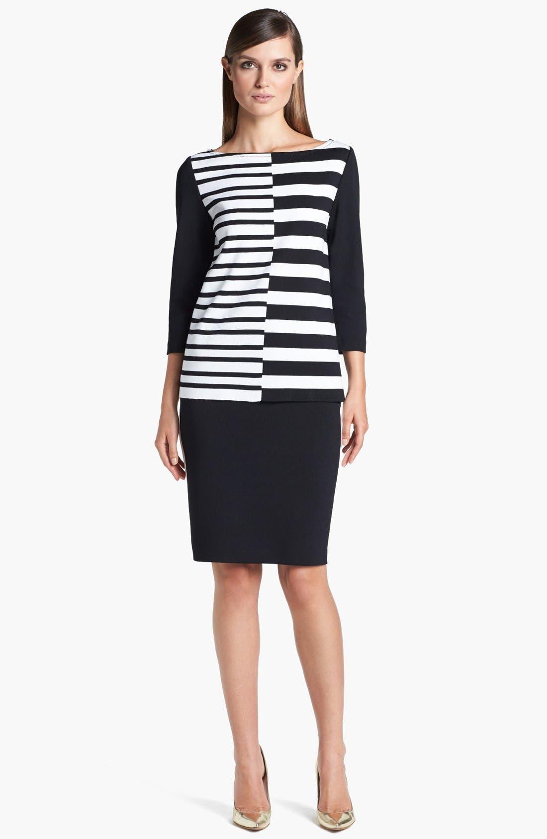 Alternate Image 2  - St. John Collection Side Stripe Milano Knit Pencil Skirt