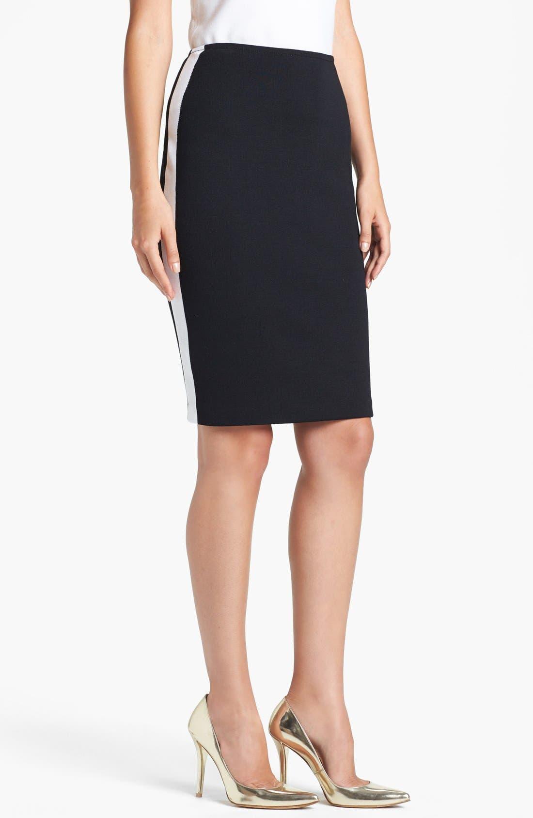 Alternate Image 1 Selected - St. John Collection Side Stripe Milano Knit Pencil Skirt