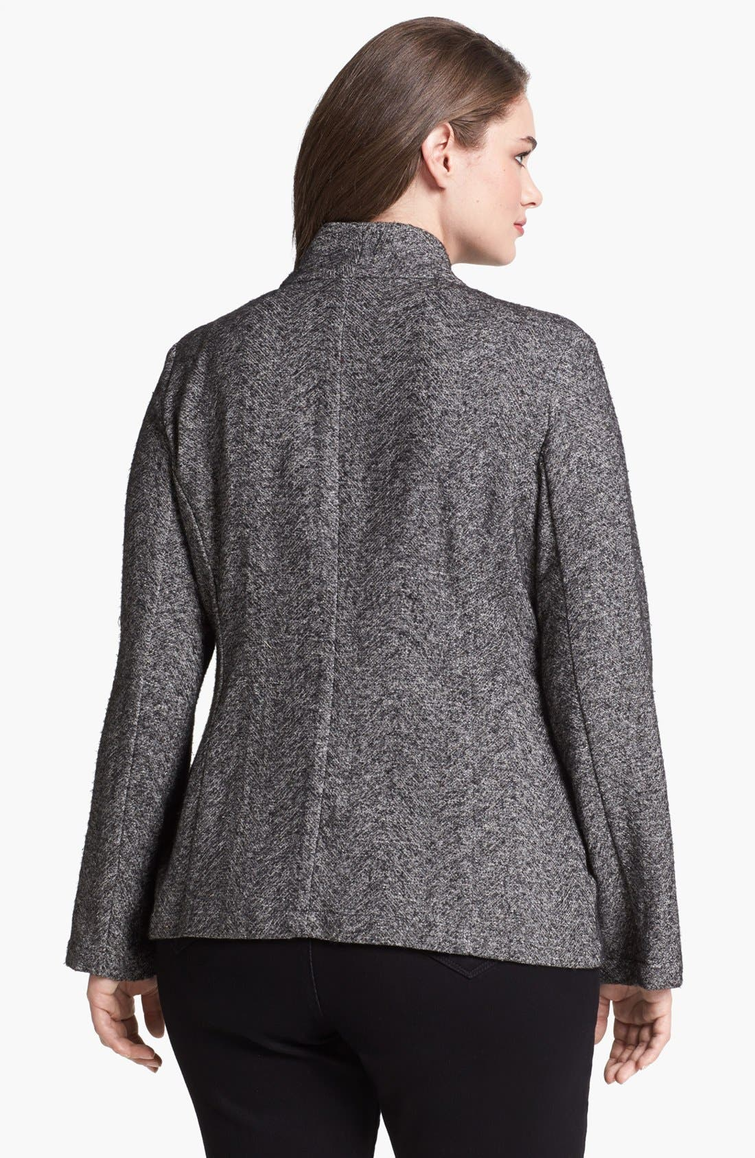 Alternate Image 2  - Eileen Fisher Cascade Front Cardigan (Plus Size)
