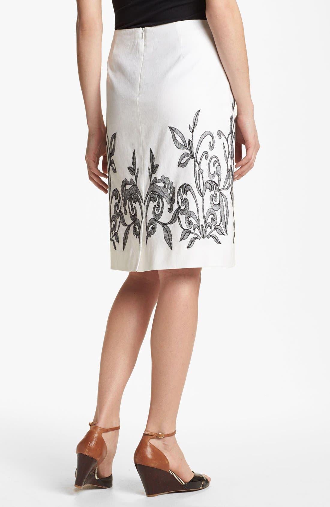 Alternate Image 2  - NIC+ZOE 'Exotic Flowers' Skirt (Petite)