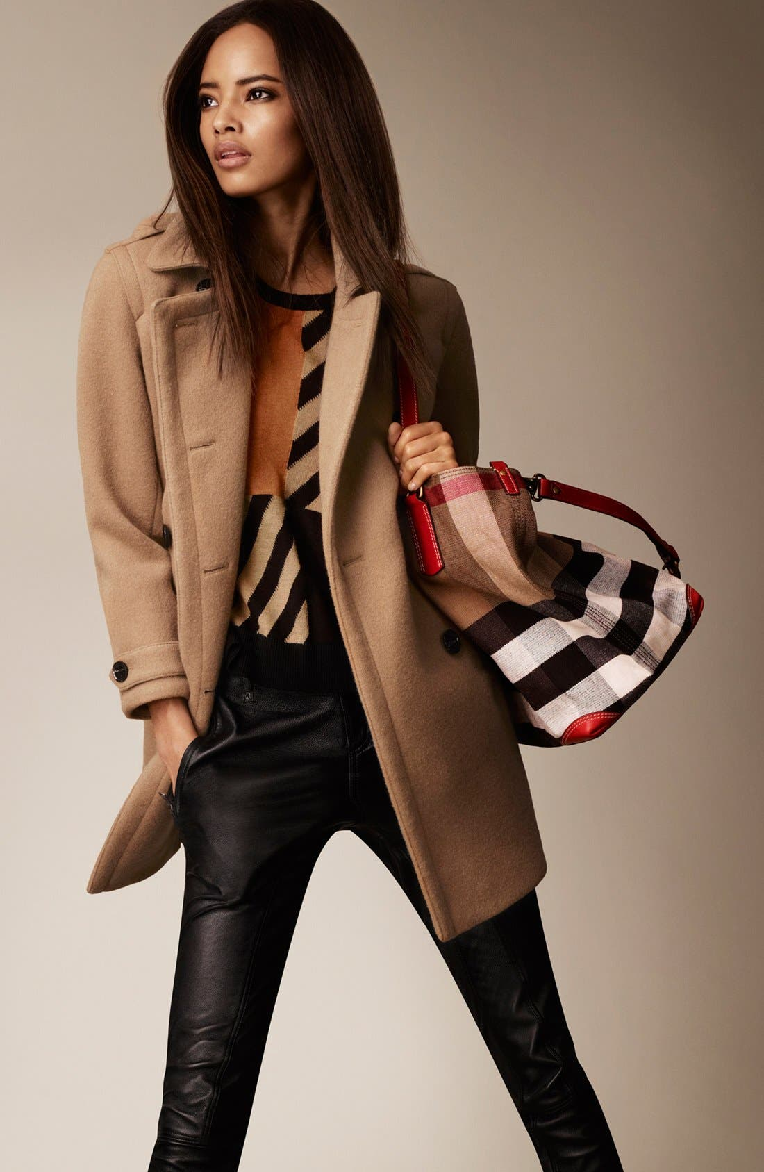 Alternate Image 4  - Burberry Brit 'Busby' Double Breasted Coat