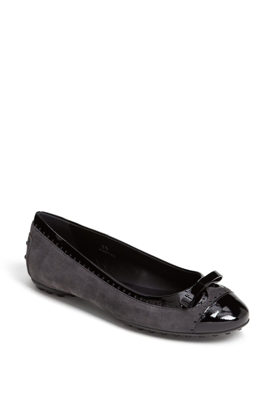 Alternate Image 1 Selected - Tod's Bow Ballet Flat